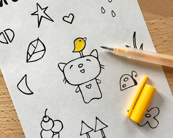 Downloadable coloring page // kids coloring // cute icons
