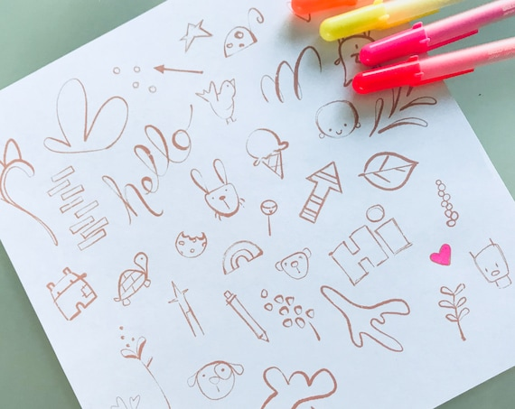 Doodle Coloring Page // kids coloring // meditative coloring