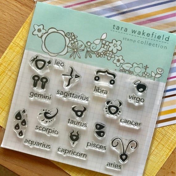 Horoscope clear stamp set for papercrafting