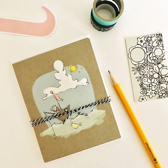 Greeting cards flat postcard style with envelopes etsy image 0 m4hsunfo