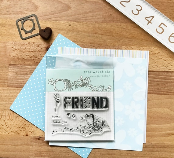 Friendly Bird // Clear Stamp for paper crafting // stamp set