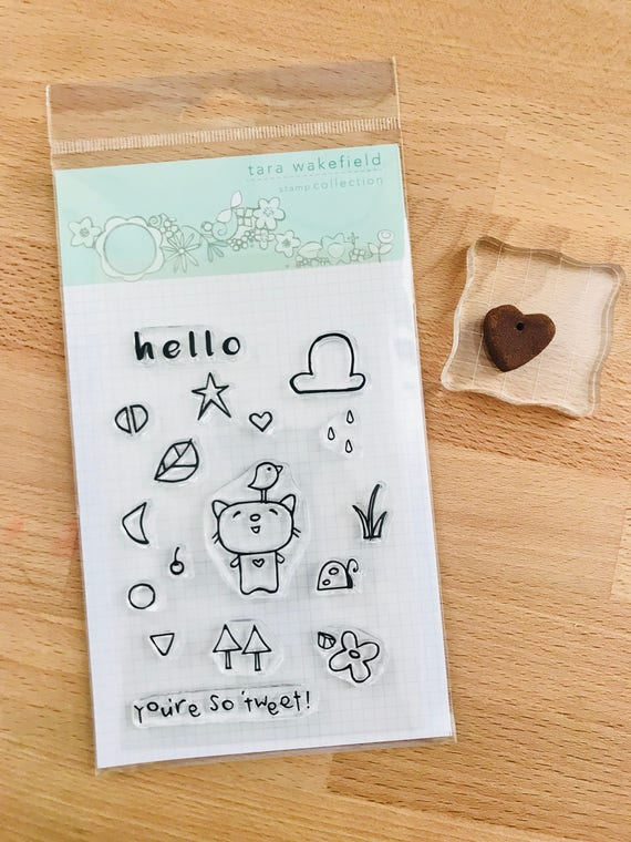 Tweet Kitty // clear stamp // card making // scrapbooking // kids crafting // stamp set