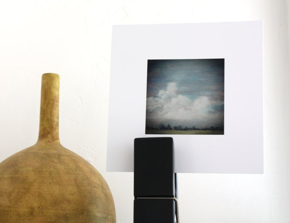 cloud painting // digital print // 8 x 8 // wall art