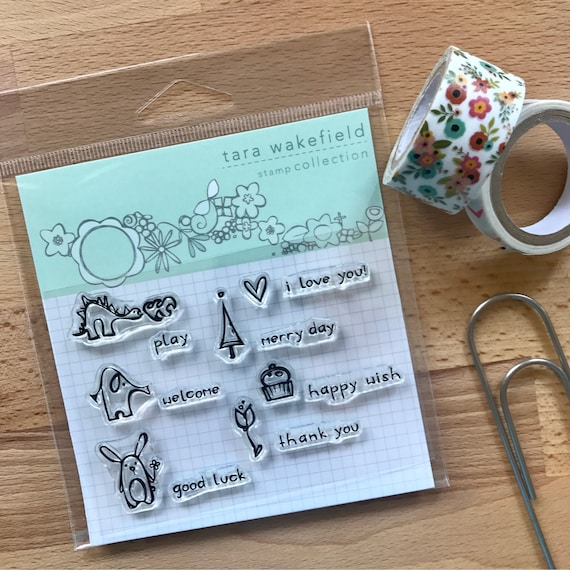 Tiny Sayings // stamps with adorable sayings // clear stamp set for papercrafting // stamp set