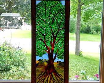 Stained Glass Mosaic - Large Tree in Summer