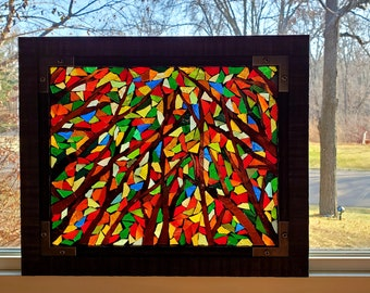 Stained Glass Mosaic - A Forest of Color