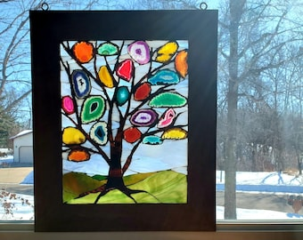 Stained Glass Mosaic - Tree of Colored Earth