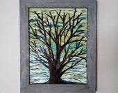 Stained Glass Mosaic - Tree at Daybreak