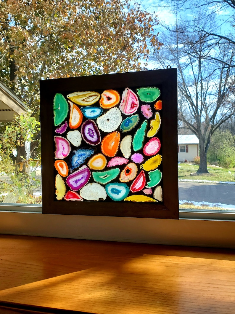 A Rainbow of Agates Stained Glass Mosaic