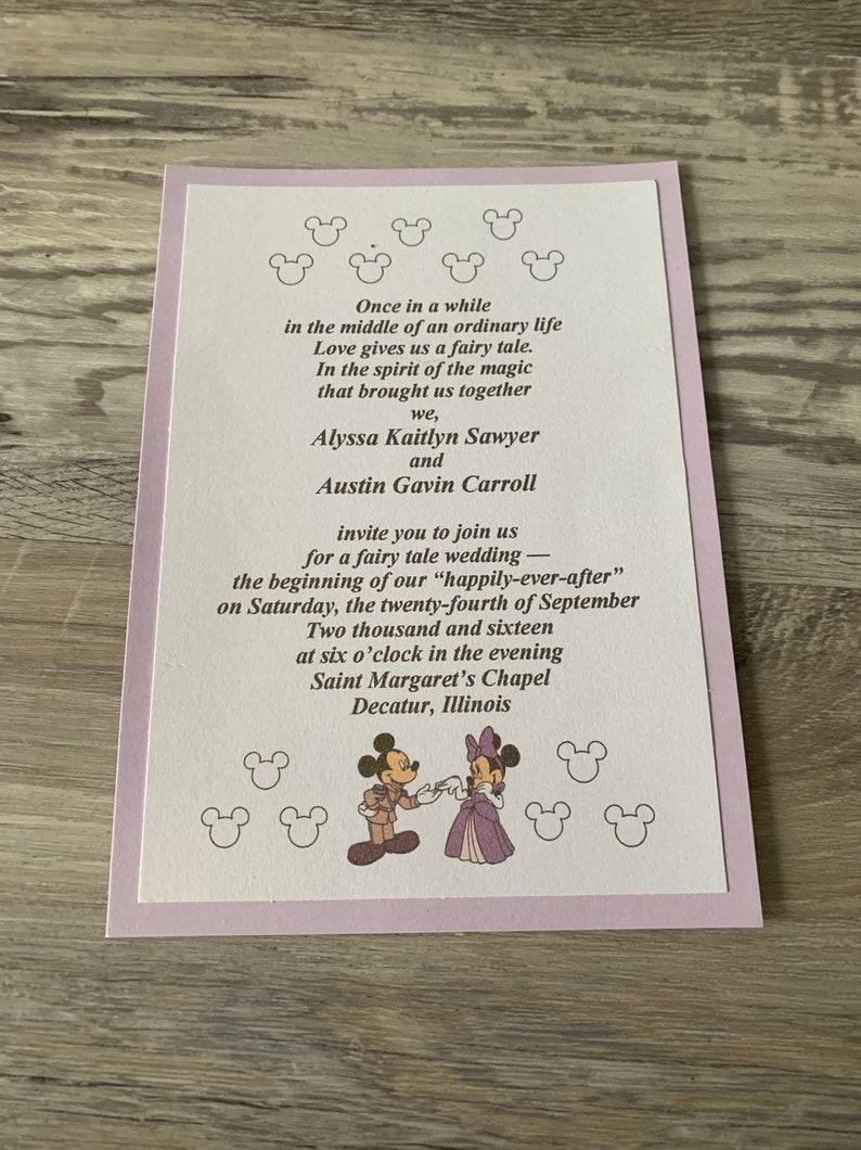 Mickey and Minnie Invitations