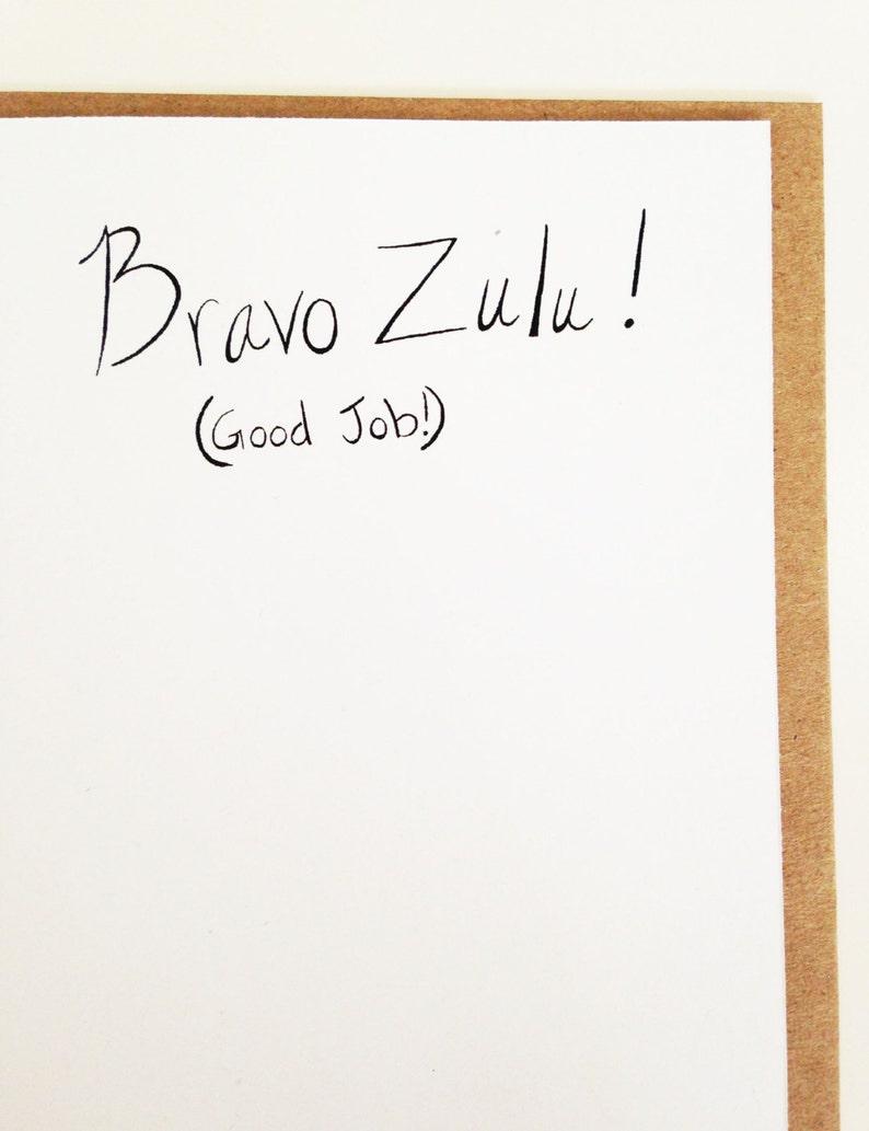 Good Job Card  Maritime Signal Flags  Bravo Zulu Card  Military Card
