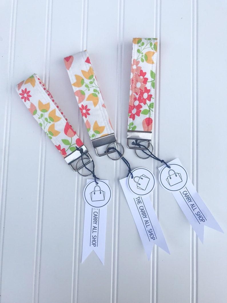 key ring fabric keychain fabric key fob key fob wristlet keychain wristlet key chain key wrist strap