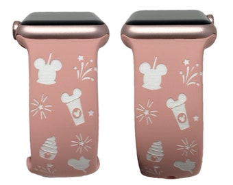 Mickey Snacks - Laser Engraved Apple Watch Band