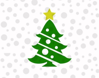 Christmas Tree SVG, PNG,  Instant Download, Cricut and Silhouette