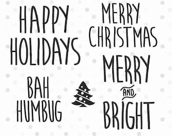Christmas Phrases Rae Dunn SVG, PNG,  Instant Download, Cricut and Silhouette