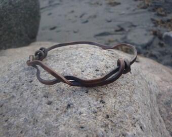 """Surf Curls 3"""" Copper Bangle 16 gauge"""