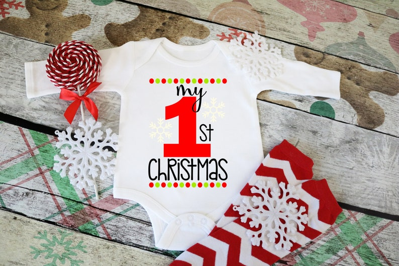 My 1st Christmas outfit My First Christmas Christmas Outfit Christmas Onesie