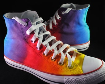 0a540a7547030a Custom handpainted rainbow shoes