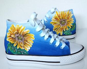 sunflower baby converse