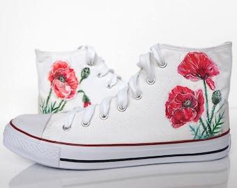Benutzerdefinierte Sonnenblume Schuhe von Hand bemalt Blume