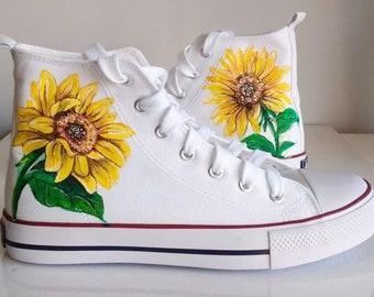 4a67bcfd5b58 Custom Sunflower Shoes