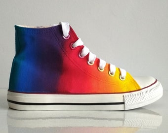 fa570d6958 Custom handpainted rainbow shoes