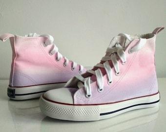 a60a003ea2 Custom Pink Ombre Shoes