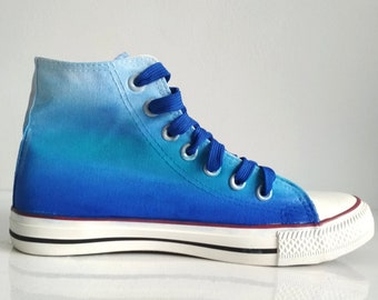 fcf4229b7d Custom Blue Ombre Shoes