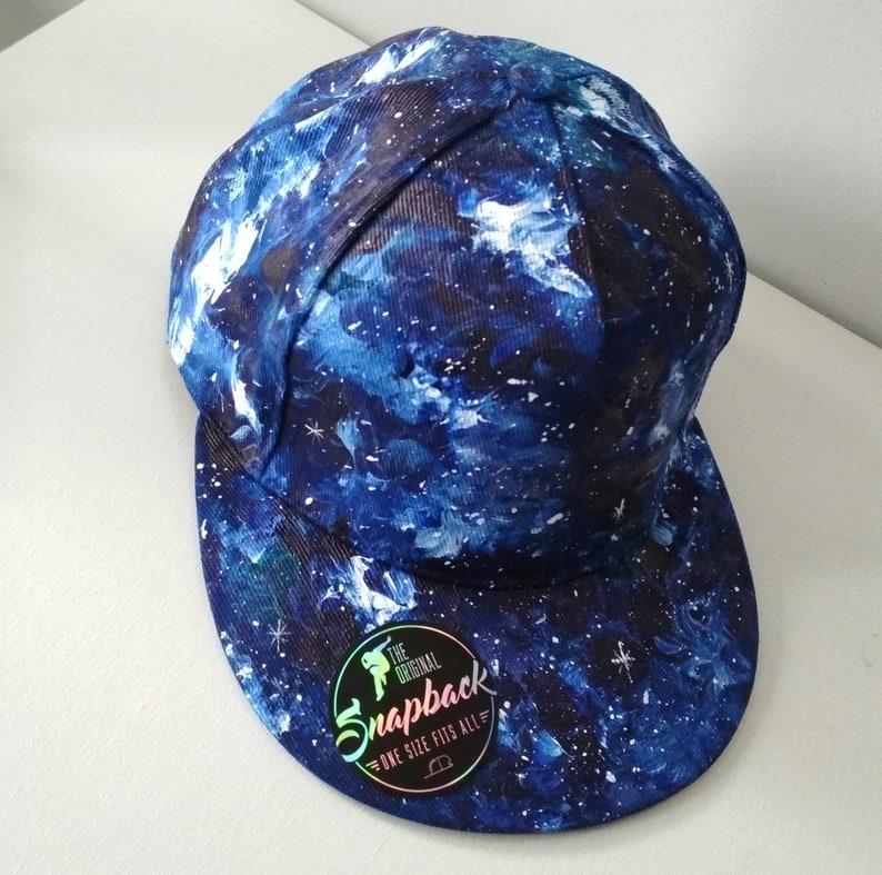 Custom galaxy SNAPBACK galaxy trucker hat custom fullcap  7b58ae54c411