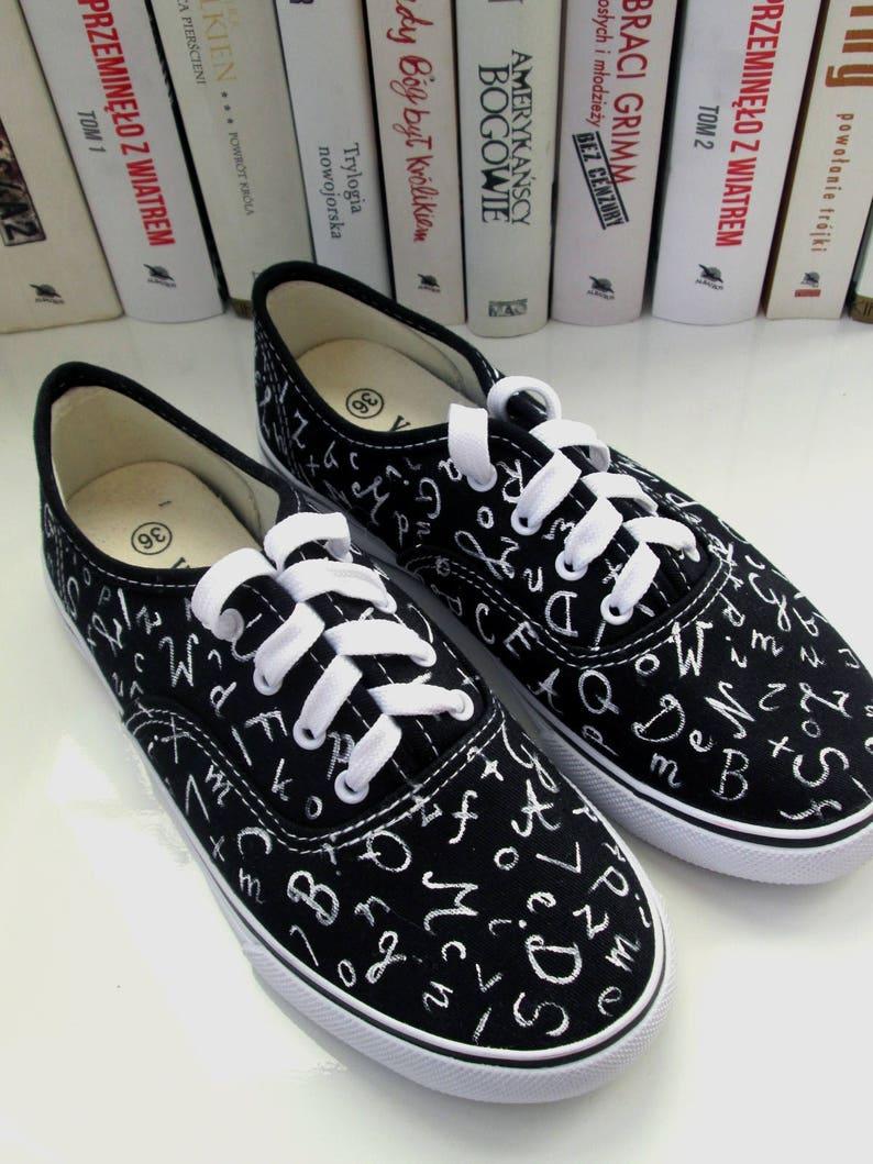 Sneakers con alfabeti dipinti a mano personalizzati scarpe da SrEJVs1M