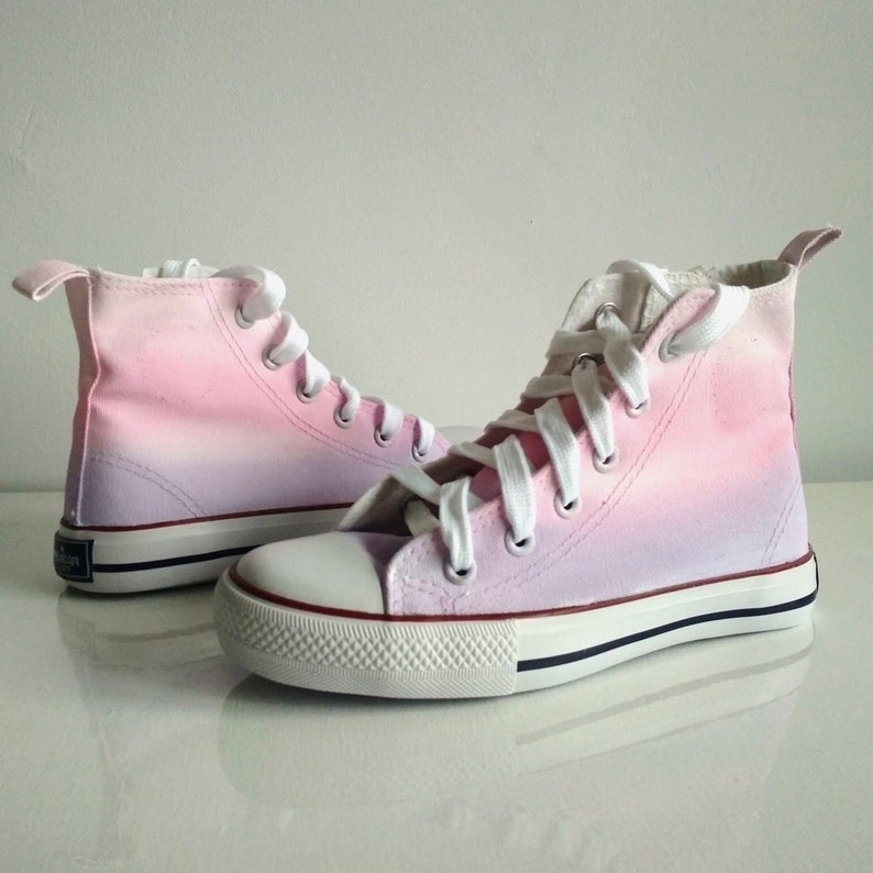 fe9072083959 Custom Pink Ombre Shoes handpainted pastel shoes ombre