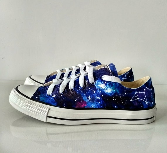 Leo Constellation shoes, custom astrology shoes, Leo gift, celestial shoes,  zodiac gift, galaxy shoes