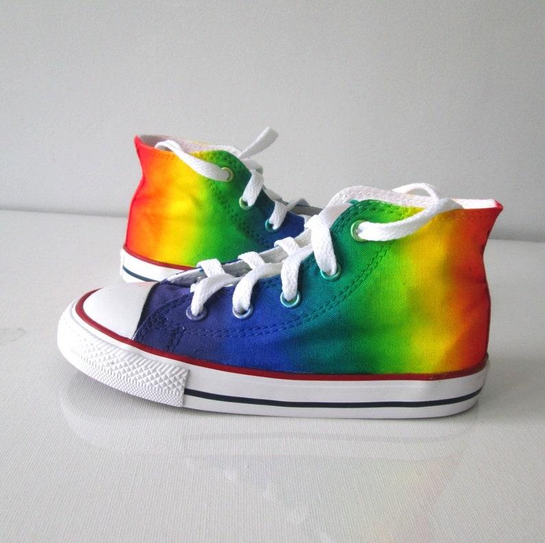 ab8a6871cc7a Custom handpainted rainbow shoes rainbow converse rainbow