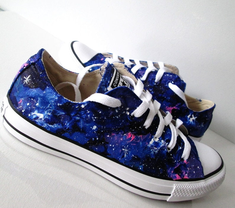 58b47e1c8889 Custom handpainted galaxy shoes galaxy Converse galaxy Vans