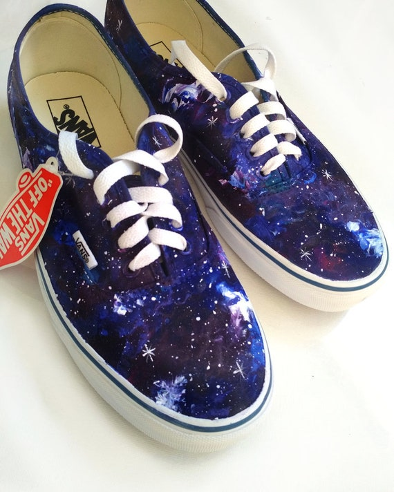 Custom galaxy shoes, galaxy VANS, purple galaxy sneakers, celestial shoes