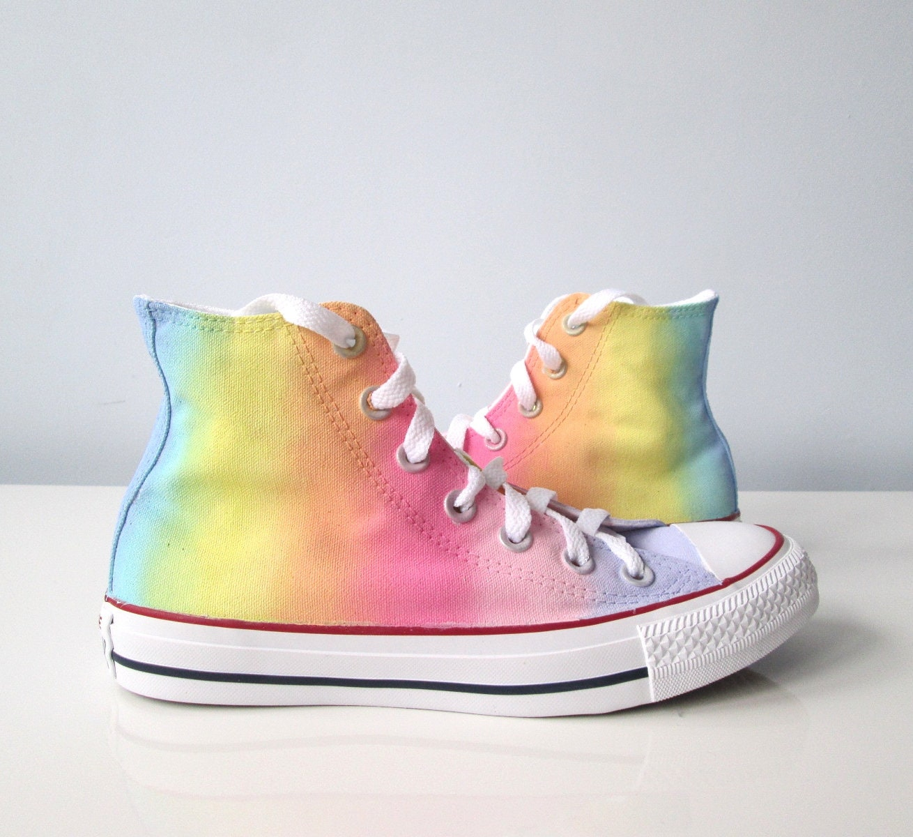 Pastel Rainbow Shoes Handpainted Rainbow Shoes Rainbow