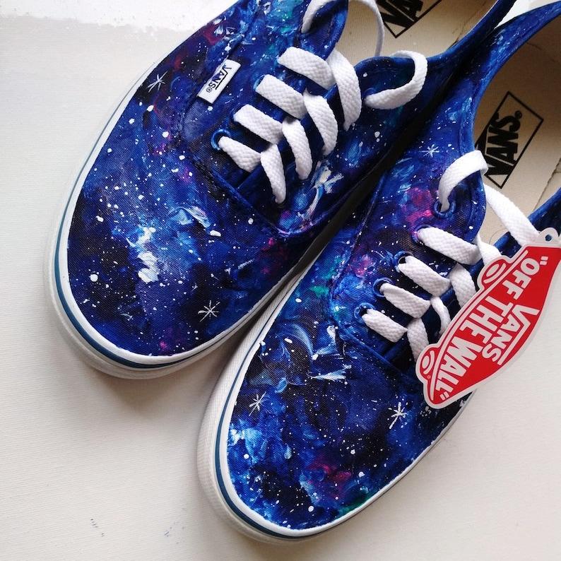 218cbf7199 Custom galaxy shoes galaxy VANS blue galaxy sneakers