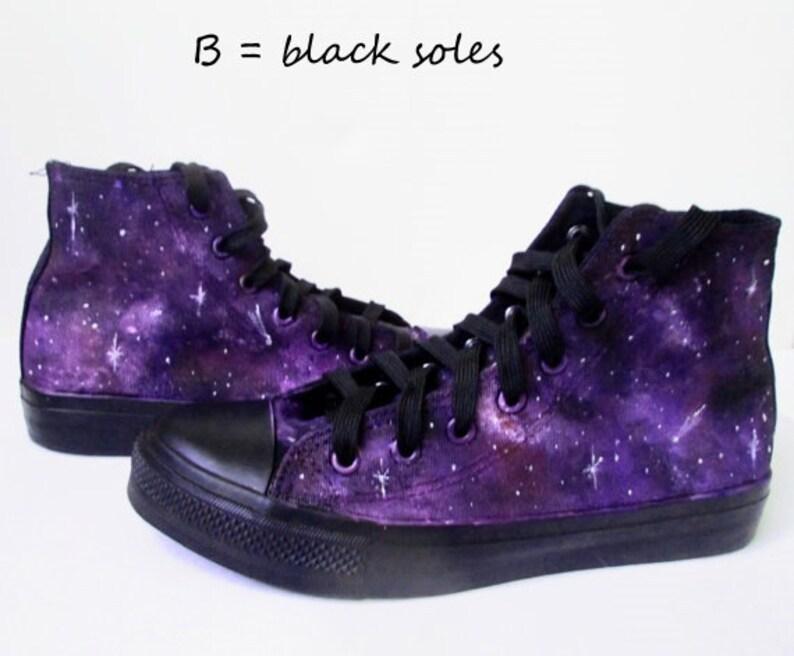 Custom Purple galaxy shoes custom