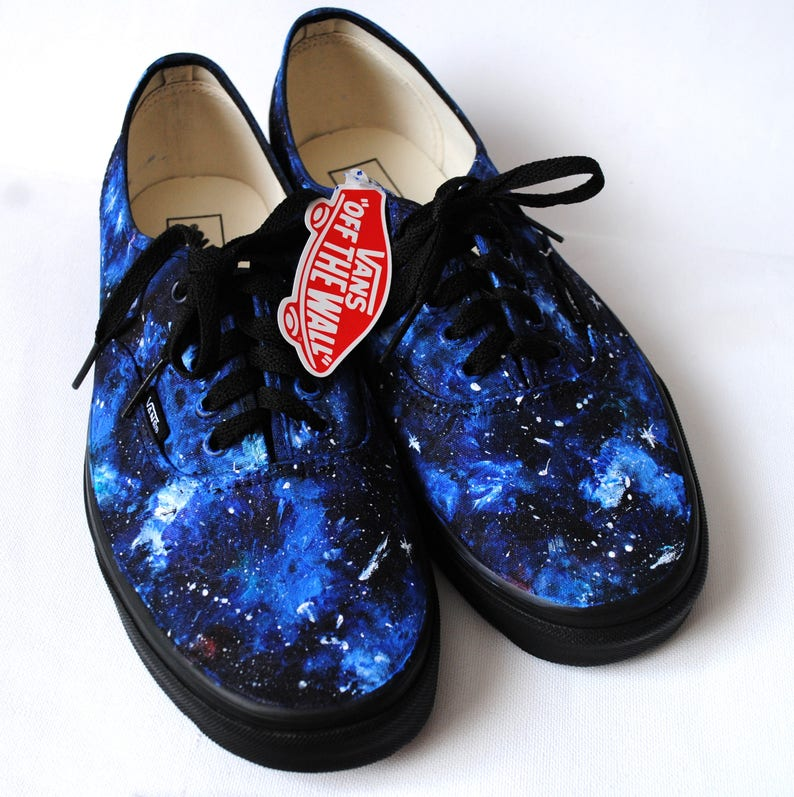 25227ca7c5d639 Custom handpainted galaxy VANS galaxy shoes blue galaxy