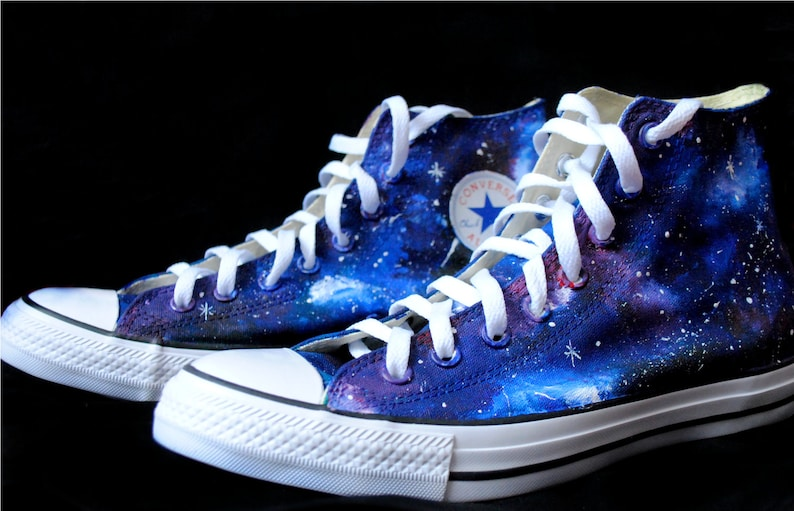 6621671f9e Handpainted Galaxy Shoes Cutom galaxy shoes galaxy Converse