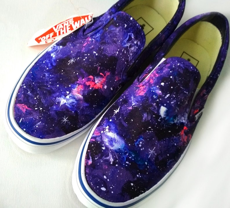 717d1778ad Custom galaxy VANS purple galaxy shoes galaxy slip ons