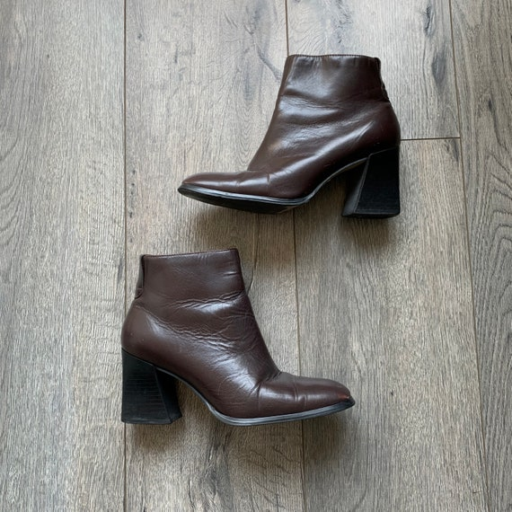 Vintage 90's Square toe boots
