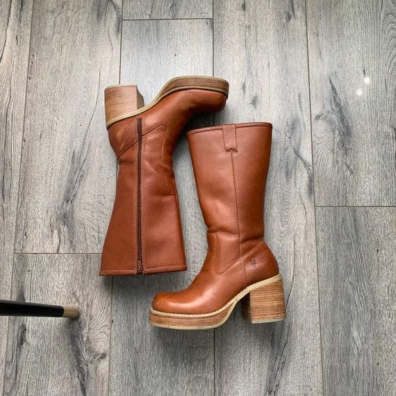 VTG 90's Frye Dorian Platform Leather Boots