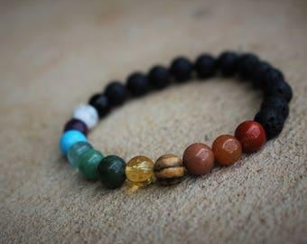Chakra Bracelet Essential Oil Diffuser Bracelet Gemstone Crystal Balancing