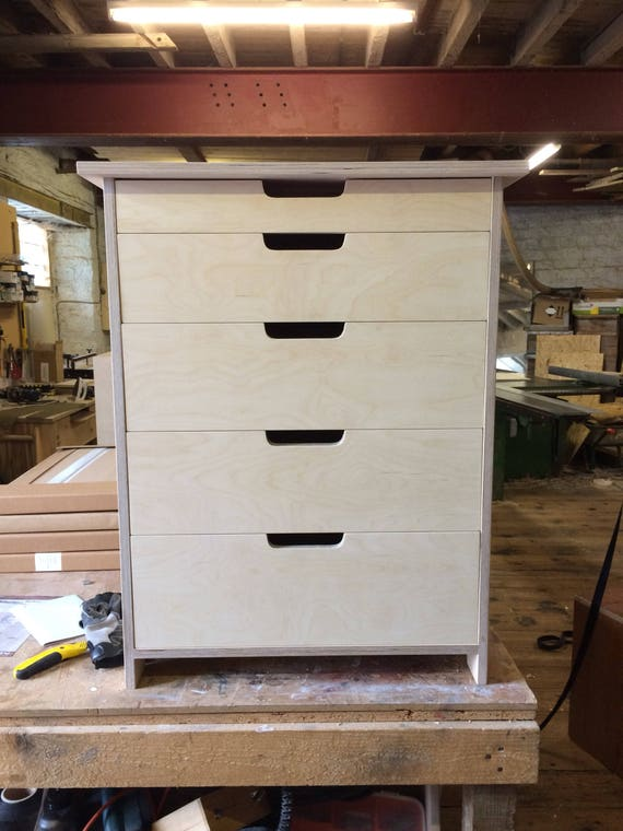 Kitchen Storage Unit / Island - Utensil Drawer - Birch Plywood - Customise  Design + Materials