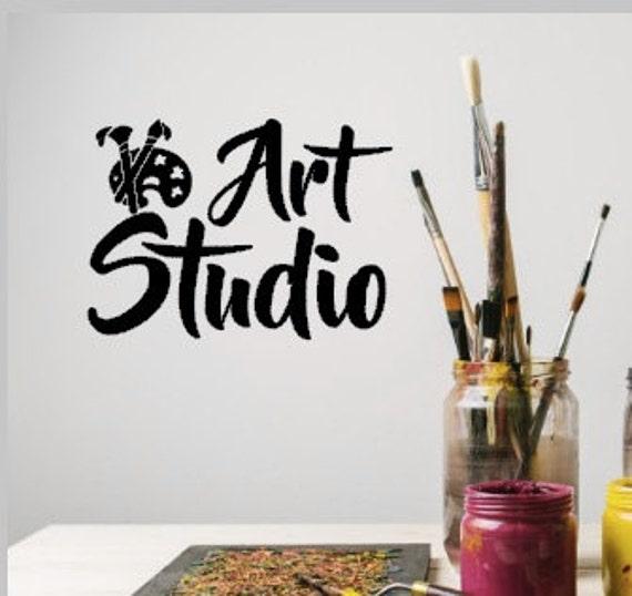 art studio vinyl wall decals art classroom decal paint   etsy