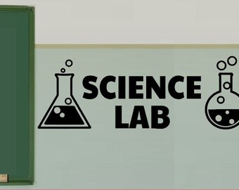Science Lab Vinyl Wall  Decals - Science Classroom Decal - Chemistry Class Sticker - Teacher Decorations - School Sticker Decals - Electron