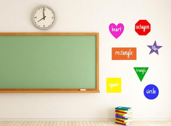 Shapes Teacher Vinyl Decal Classroom Classroom Decor Etsy