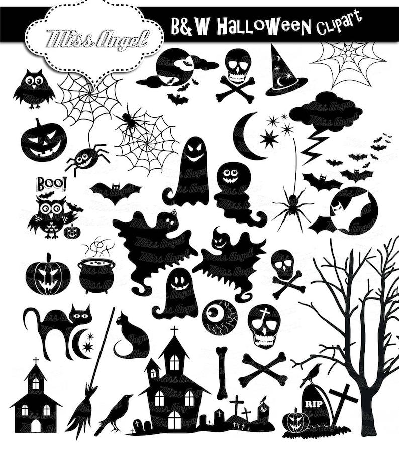 Halloween Silhouettes Clip Art 34 Black Halloween Clipart