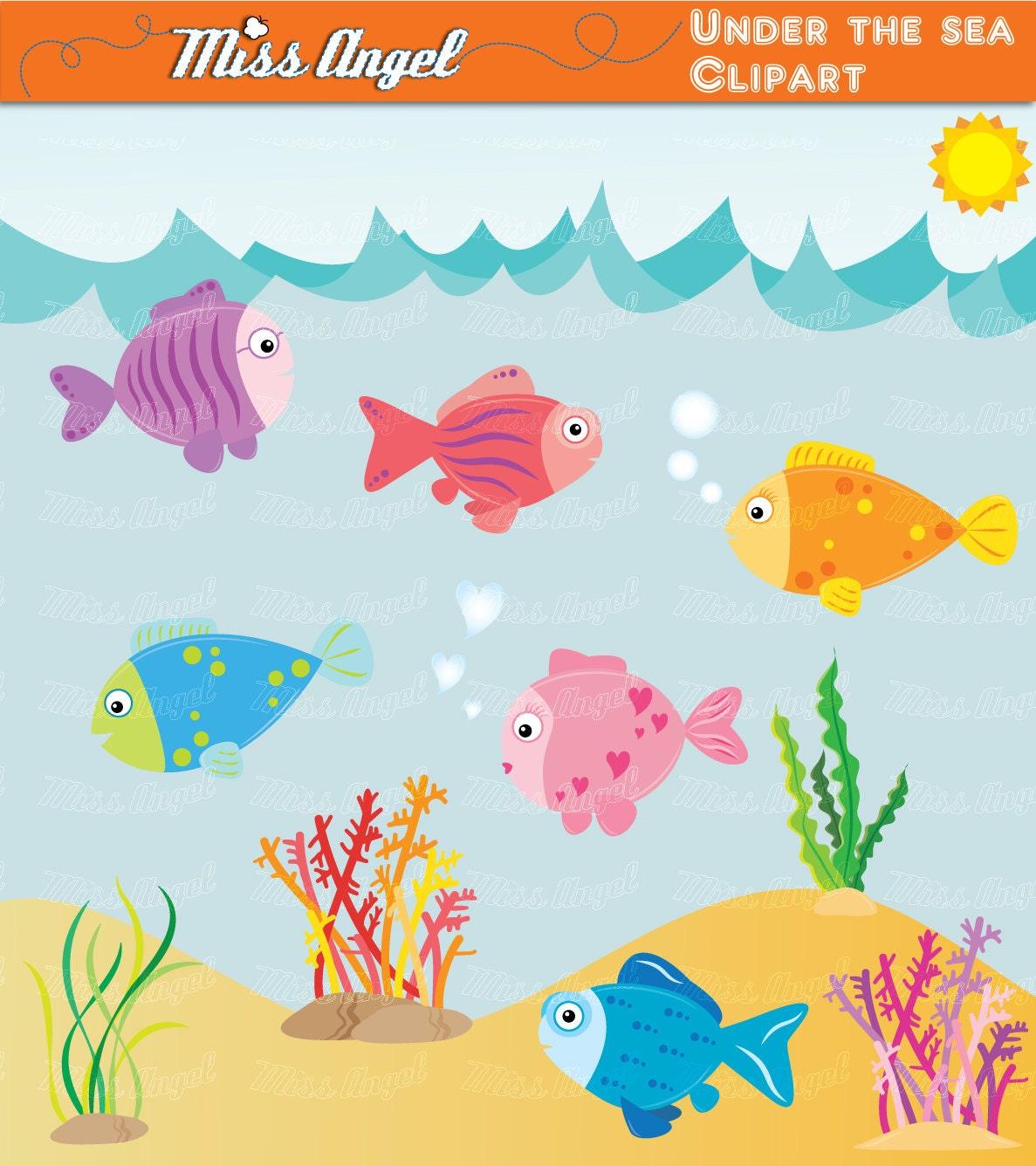 Unter der Meer-CLIPART-SET 13 digitale Bilder Fische   Etsy